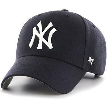 47 Brand Curved Brim Kinder New York Yankees MLB MVP Cap marineblau