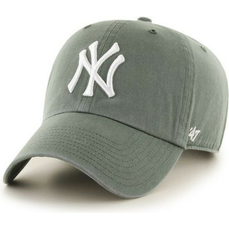47-brand-curved-brim-new-york-yankees-mlb-clean-up-dark-cap-grun