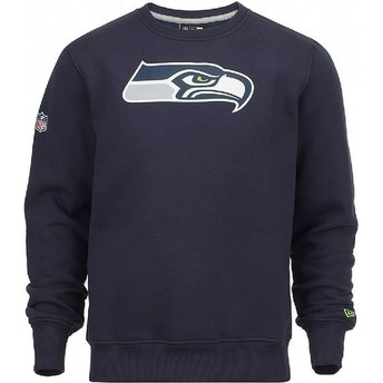 New Era Seattle Seahawks NFL Crew Neck Sweatshirt blau