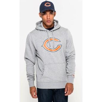 New Era Chicago Bears NFL Pullover Hoodie Kapuzenpullover Sweatshirt grau
