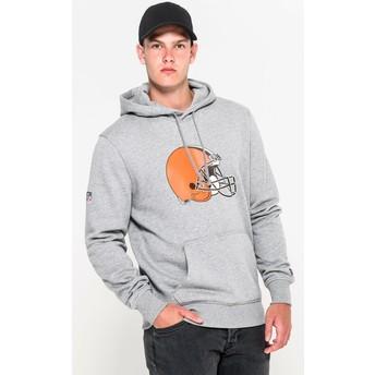 New Era Cleveland Browns NFL Pullover Hoodie Kapuzenpullover Sweatshirt grau