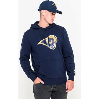New Era Los Angeles Rams NFL Pullover Hoodie Kapuzenpullover Sweatshirt blau