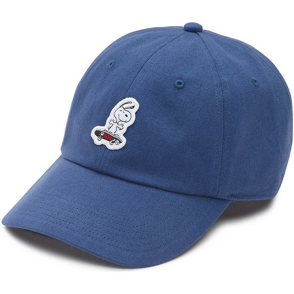 vans-curved-brim-snoopy-skateboard-court-side-cap-marineblau