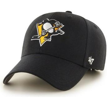 47 Brand Curved Brim Pittsburgh Penguins NHL MVP Cap schwarz
