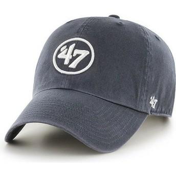 47 Brand Curved Brim 47 Logo Clean Up Cap marineblau
