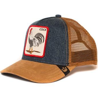 Goorin Bros. Rooster Big Strut Trucker Cap braun und denim