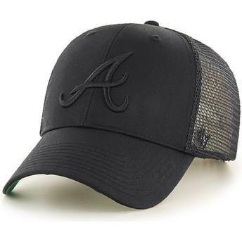 47 Brand Schwarzes Logo Atlanta Braves MLB MVP Branson Trucker Cap schwarz