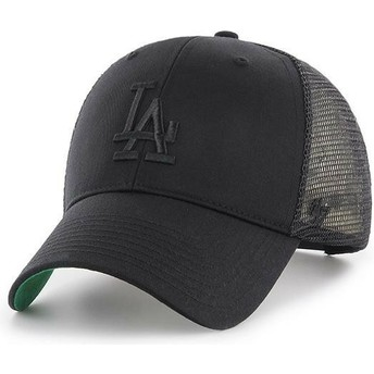 47 Brand Schwarzes Logo Los Angeles Dodgers MLB MVP Branson Trucker Cap schwarz