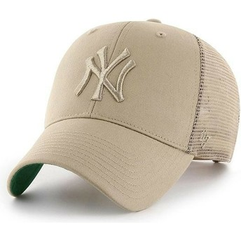 47 Brand Beiges Logo New York Yankees MLB MVP Branson beige Trucker Cap