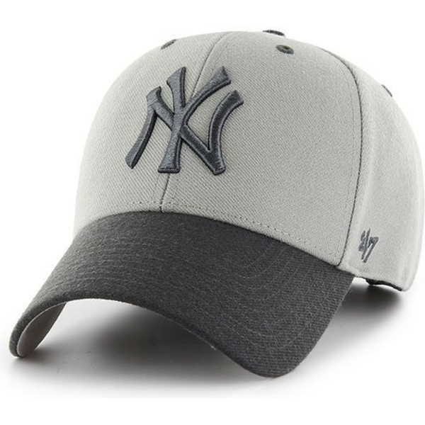 47-brand-curved-brim-new-york-yankees-mlb-mvp-audible-2-tone-cap-grau