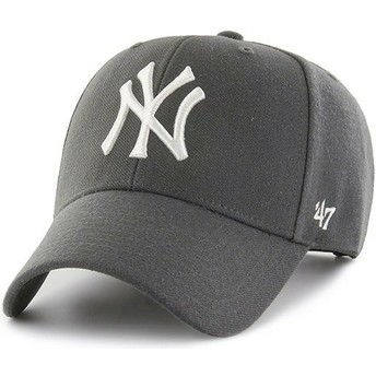 47 Brand Curved Brim New York Yankees MLB MVP Snapback Cap dunkelgrau