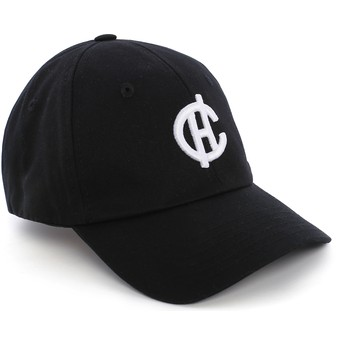 Caphunters Curved Brim CH Logo Aspen Cap schwarz