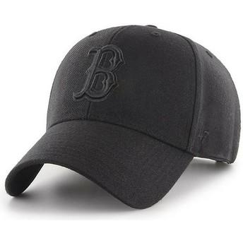 47 Brand Curved Brim Schwarzes Logo Boston Red Sox MLB MVP Snapback Cap schwarz
