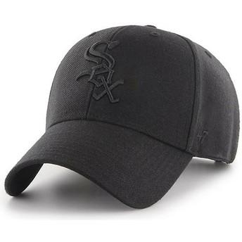 47 Brand Curved Brim Schwarzes Logo Chicago White Sox MLB MVP Snapback Cap schwarz