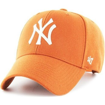47 Brand Curved Brim New York Yankees MLB MVP Snapback Cap orange