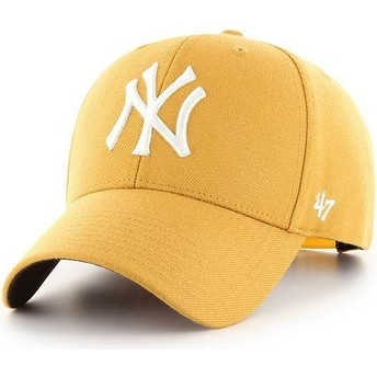 47 Brand Curved Brim New York Yankees MLB MVP Snapback Cap gelb