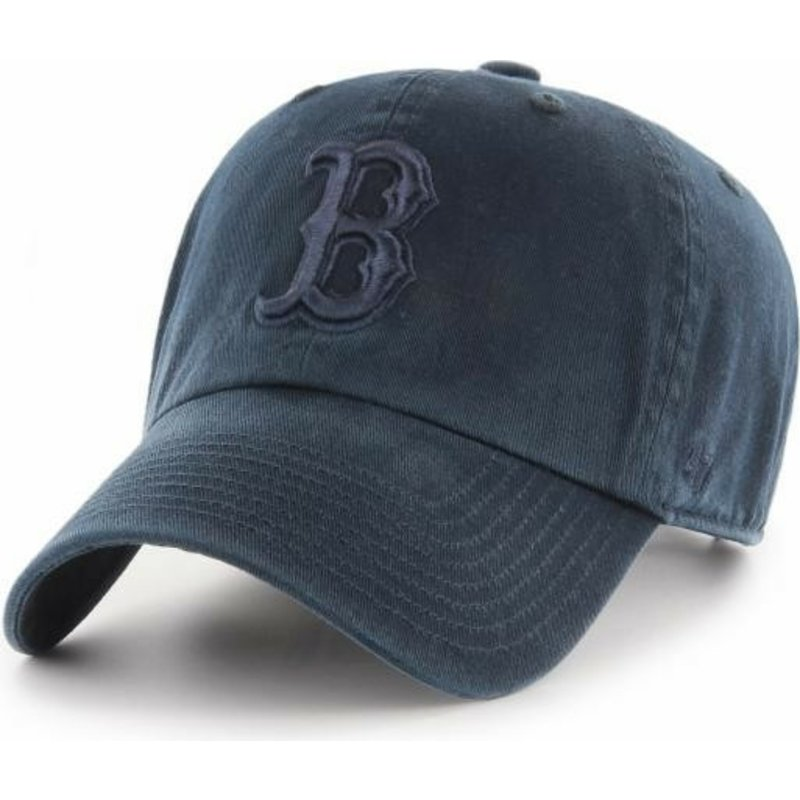 47-brand-curved-brim-marineblaues-logo-boston-red-sox-mlb-clean-up-cap-marineblau