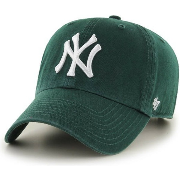 47-brand-curved-brim-new-york-yankees-clean-up-cap-grun