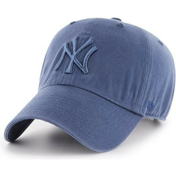 47-brand-curved-brim-blaues-logo-new-york-yankees-mlb-clean-up-cap-blau