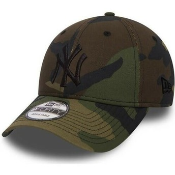 New Era Curved Brim Schwarzes Logo 9FORTY Essential New York Yankees MLB Adjustable Cap camo