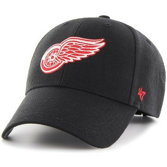 47 Brand Curved Brim Rotes Logo Detroit Red Wings NHL MVP Cap schwarz