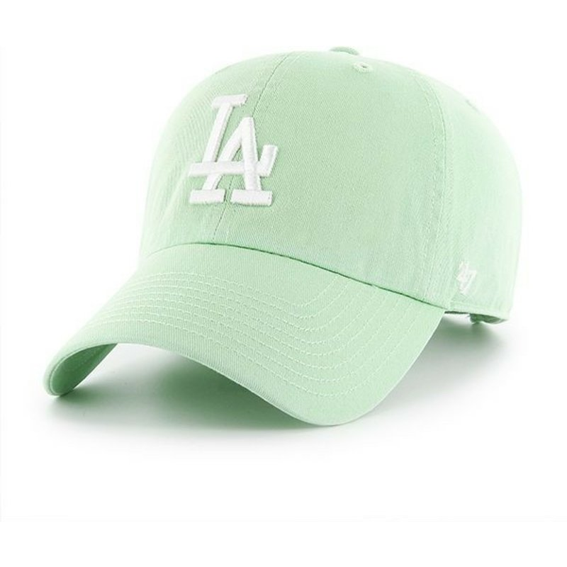 47-brand-curved-brim-los-angeles-dodgers-mlb-clean-up-cap-hellgrun