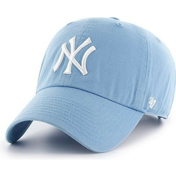 47 Brand Curved Brim New York Yankees MLB Clean Up Carolina Cap blau