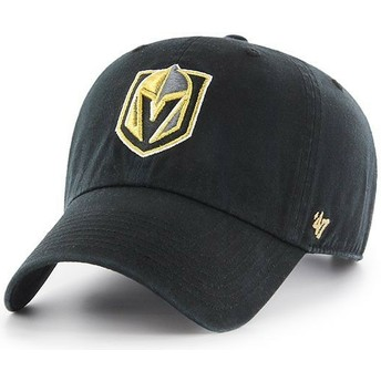 47 Brand Curved Brim Vegas Golden Knights NHL Clean Up Cap schwarz