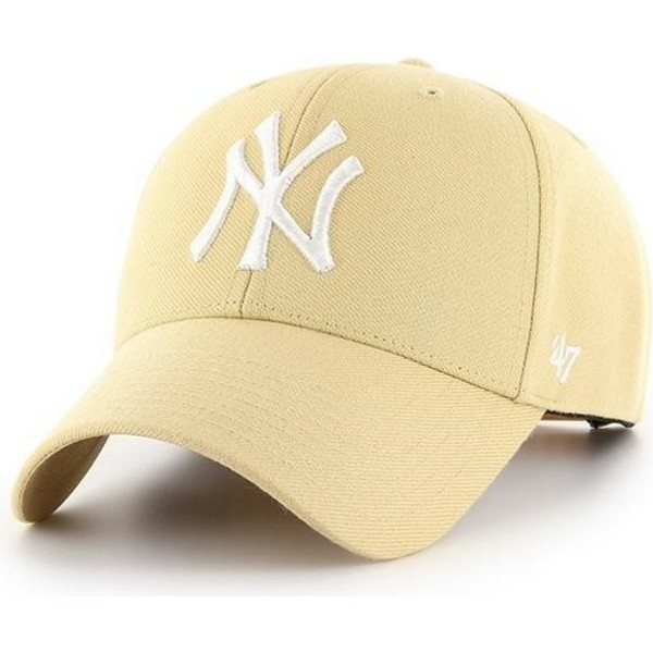 47-brand-curved-brim-new-york-yankees-mlb-mvp-light-gold-snapback-cap-gelb