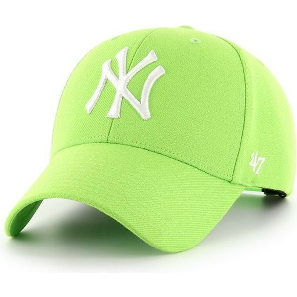 47-brand-curved-brim-new-york-yankees-mlb-mvp-lime-snapback-cap-grun
