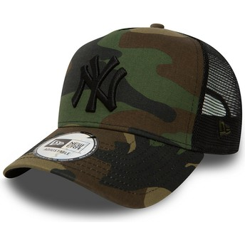 New Era New York Yankees MLB Clean A Frame Trucker Cap camo