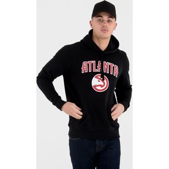 New Era Atlanta Hawks NBA Pullover Hoodie Kapuzenpullover Sweatshirt schwarz
