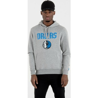New Era Dallas Mavericks NBA Pullover Hoodie Kapuzenpullover Sweatshirt grau