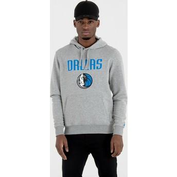New Era Dallas Mavericks NBA Pullover Hoodie Kapuzenpullover Sweatshirt grau