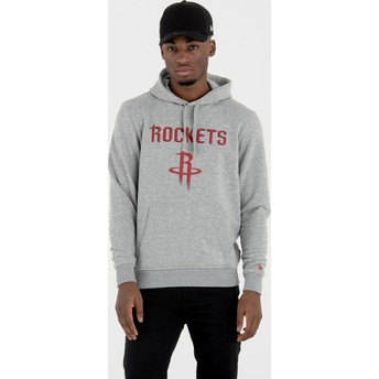 New Era Houston Rockets NBA Pullover Hoodie Kapuzenpullover Sweatshirt grau