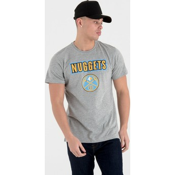 New Era Denver Nuggets NBA T-Shirt grau