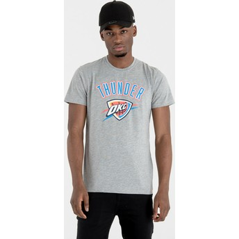 New Era Oklahoma City Thunder NBA T-Shirt grau