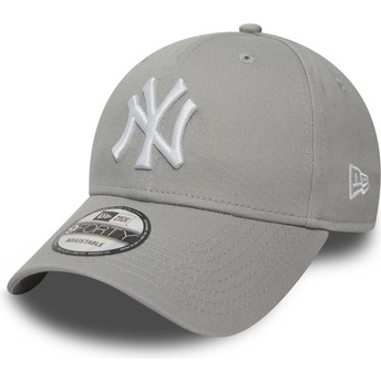 New Era Curved Brim 9FORTY Essential New York Yankees MLB Adjustable Cap grau