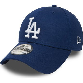 New Era Curved Brim 39THIRTY Essential Los Angeles Dodgers MLB Fitted Cap blau