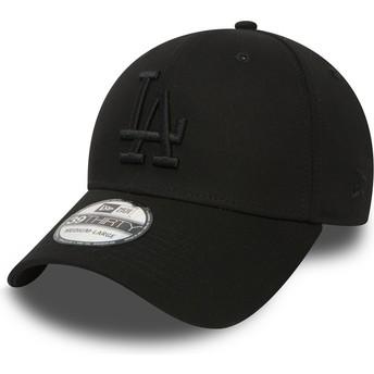 New Era Curved Brim 39THIRTY Essential Los Angeles Dodgers MLB Fitted Cap schwarz