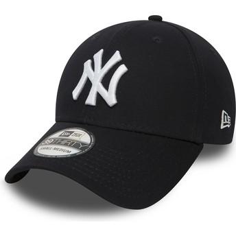 New Era Curved Brim 39THIRTY Classic New York Yankees MLB Fitted Cap marineblau