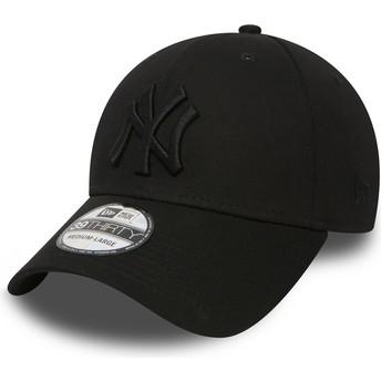 New Era Curved Brim 39THIRTY Classic New York Yankees MLB Fitted Cap schwarz