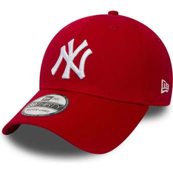 New Era Curved Brim 39THIRTY Classic New York Yankees MLB Fitted Cap rot