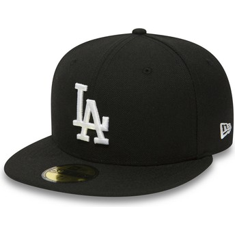 New Era Flat Brim 59FIFTY Essential Los Angeles Dodgers MLB Fitted Cap schwarz