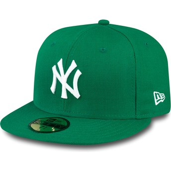 New Era Flat Brim 59FIFTY Essential New York Yankees MLB Fitted Cap grün