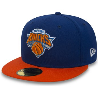 New Era Flat Brim 59FIFTY Essential New York Knicks NBA Fitted Cap blau