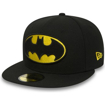 New Era Flat Brim 59FIFTY Batman Character Essential Warner Bros. Fitted Cap schwarz