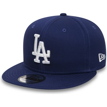 New Era Flat Brim 9FIFTY Essential Los Angeles Dodgers MLB Snapback Cap blau