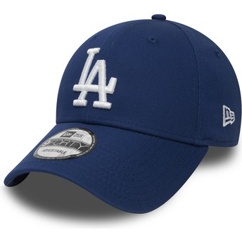New Era Curved Brim 9FORTY Essential Los Angeles Dodgers MLB Adjustable Cap blau