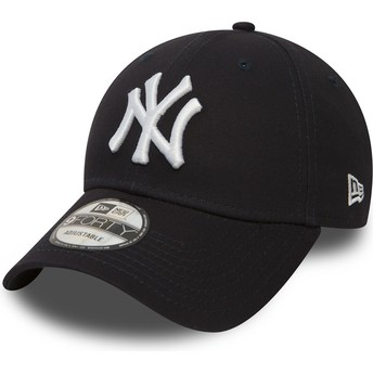 New Era Curved Brim 9FORTY Essential New York Yankees MLB Adjustable Cap marineblau